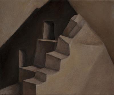 """Inca Interior 10"""" x 12""""  oil/canvas 2012"""