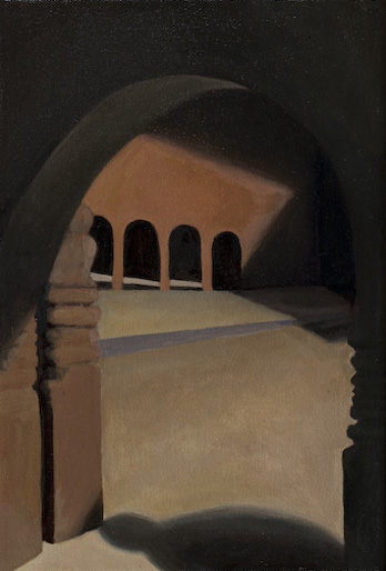 "Arch, Patan, Nepal  12"" x 8"" oil/canvas 2009"