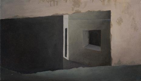 """Arrabal II Mojácar, Spain  8"""" x 14"""" oil/canvas 2008"""