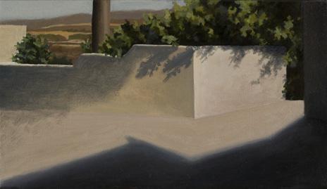 """Mojácar Pueblo II  8"""" x 14"""" oil/canvas 2008"""