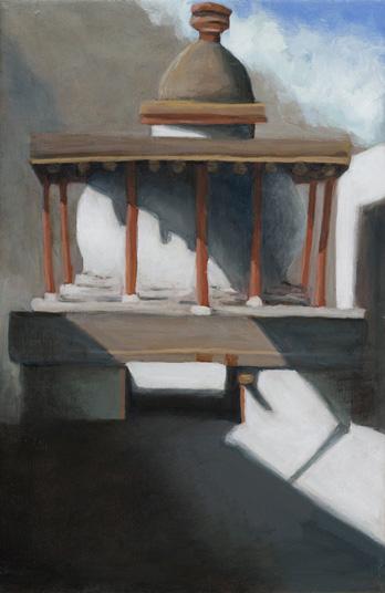 "Kagbeni Chorten  12"" x 8"" oil/canvas 2009"