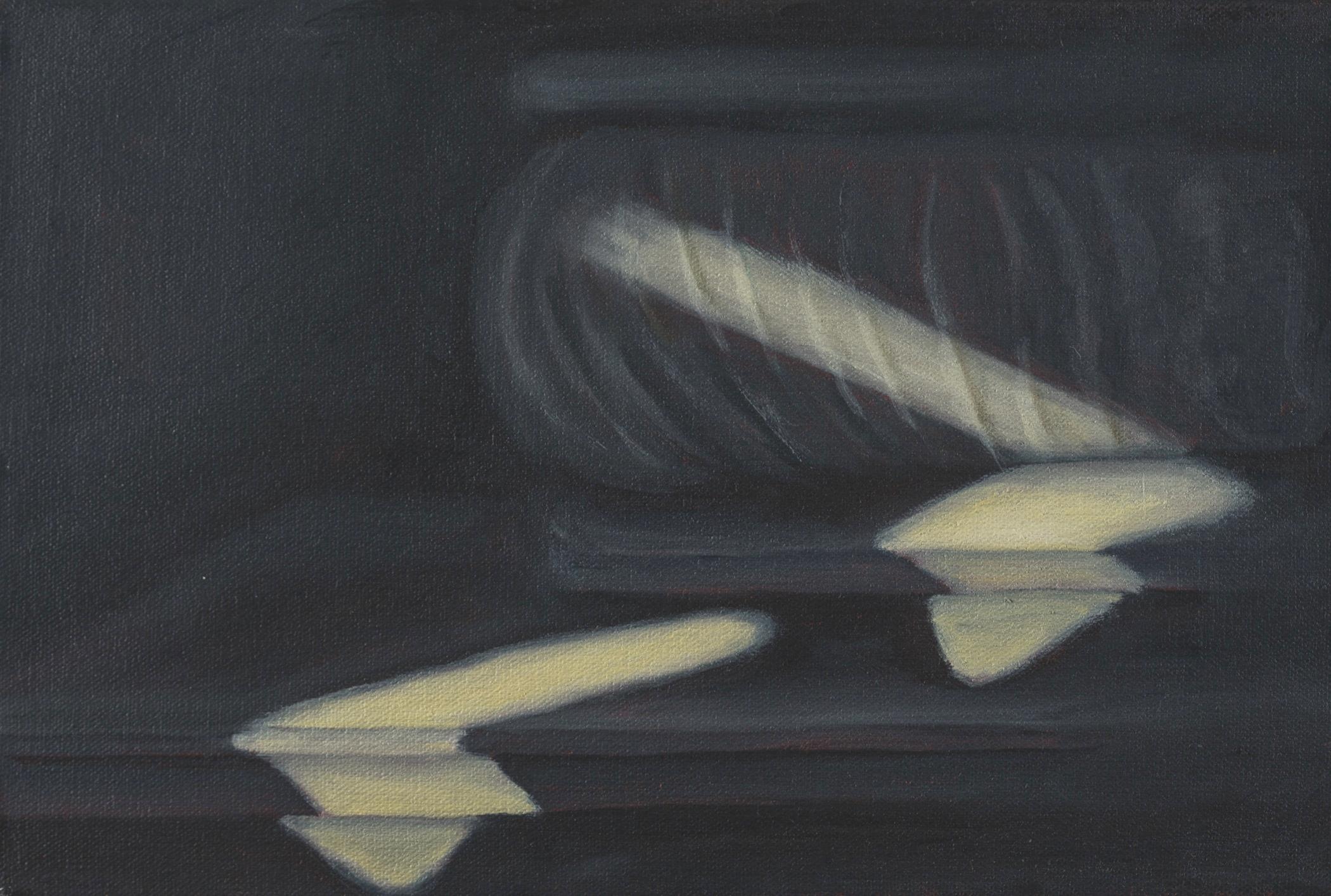 "Shadow Study II, Rome, 8"" x 12"", 2016"