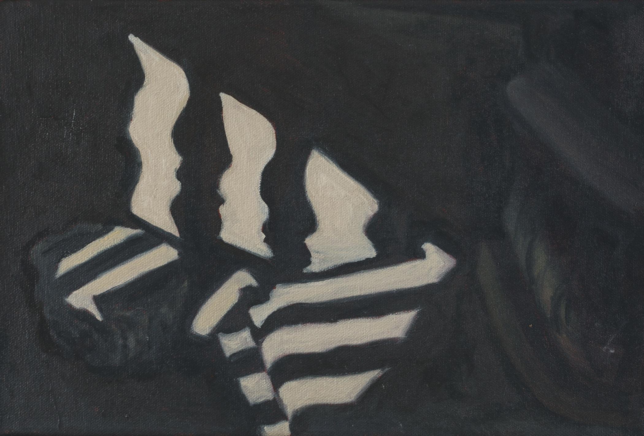 """Shadow Study I, Rome, 8"""" x 12"""", 2016"""