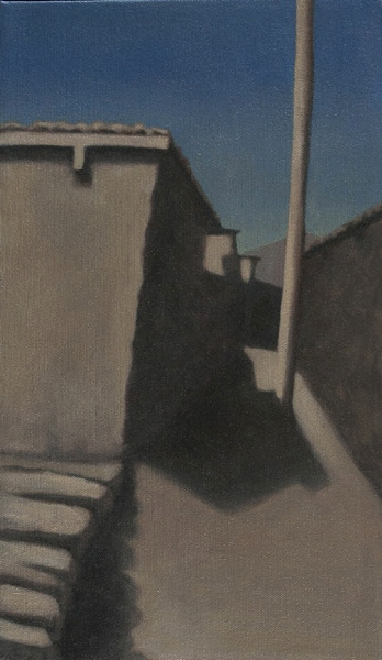 "Manang Passageway  14"" x 8"" oil/canvas 2012"