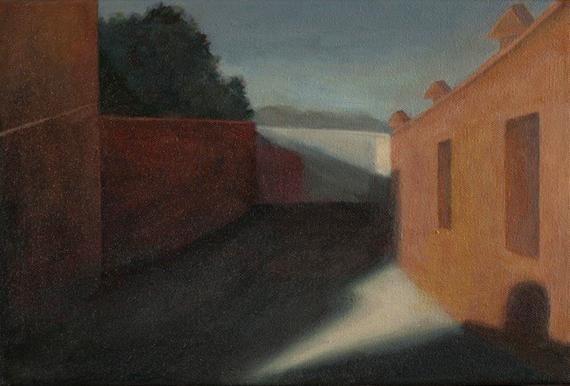 "Passaggio Publico II, Afternoon 8"" x 12"" 2013"