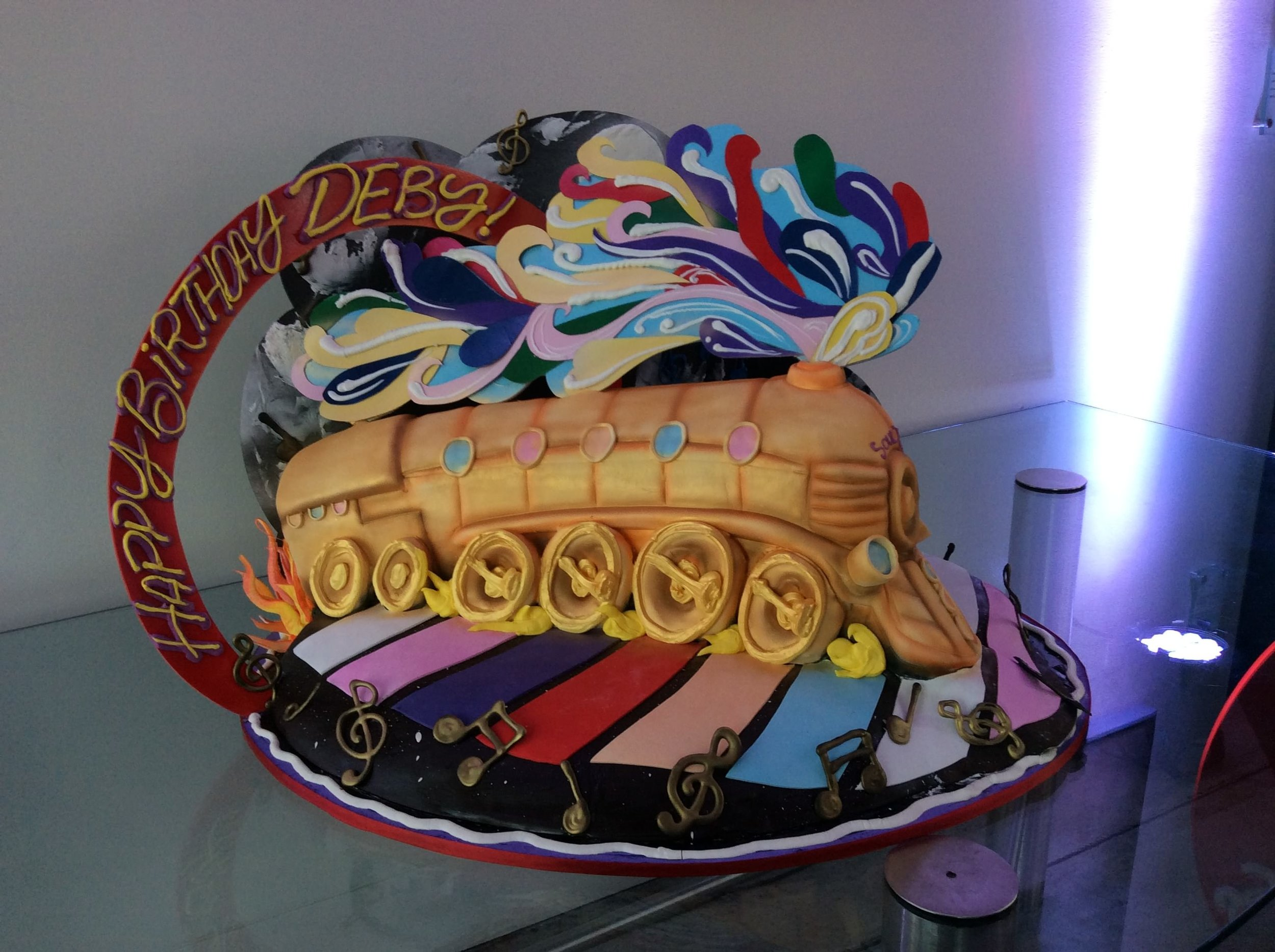Soul Train Birthday Cake