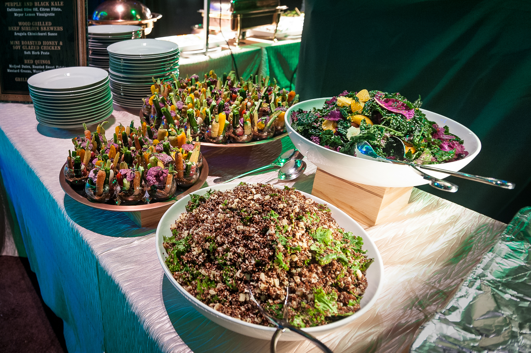 'Forest Foraged' Station at 2017 Grammy Celebration Catering by  Patina Catering  Photo courtesy of  John Brice Event Photography