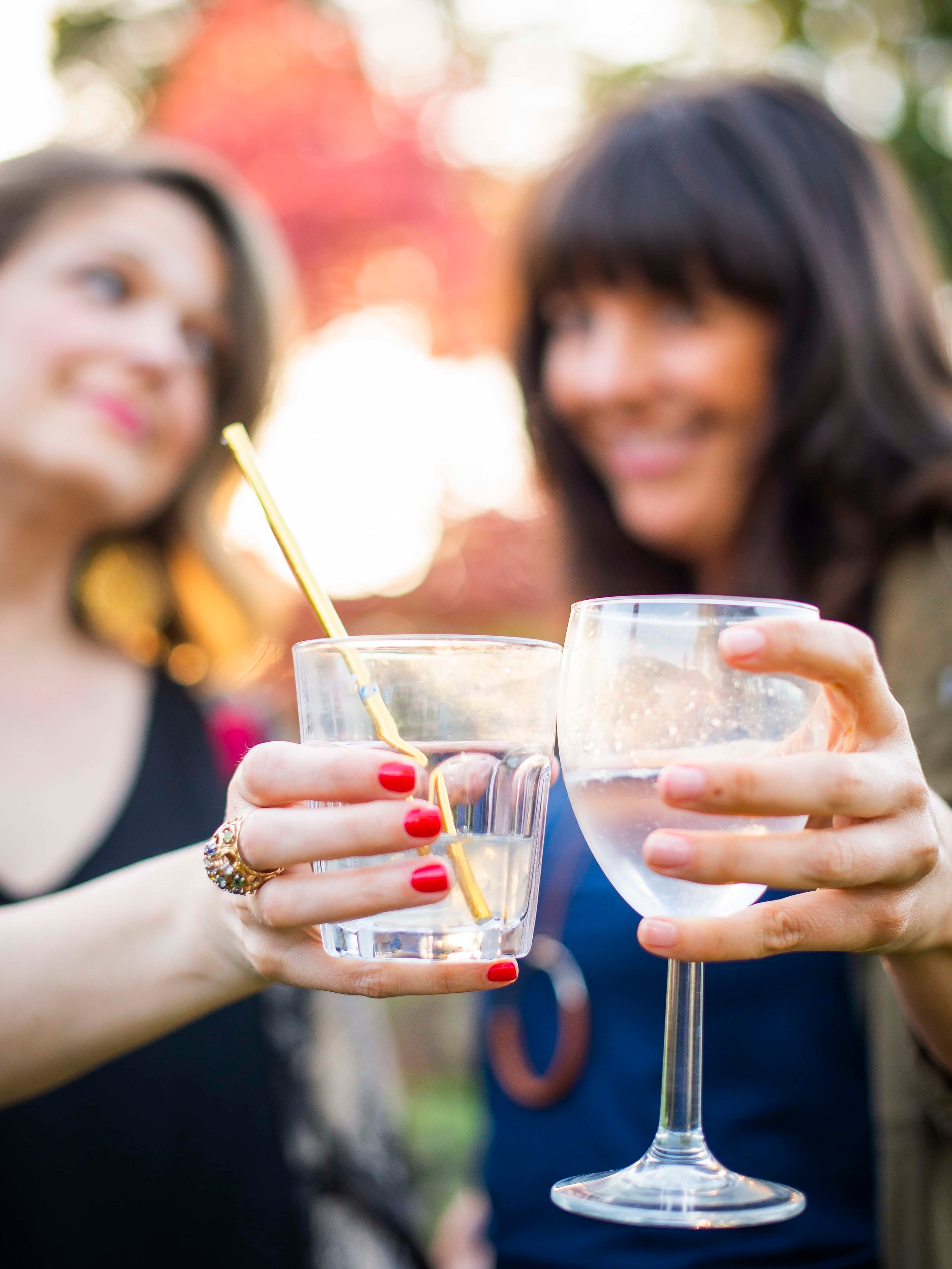 Cheers to podcasts, eloping and longtime friends! Image by:  Grit City Photo