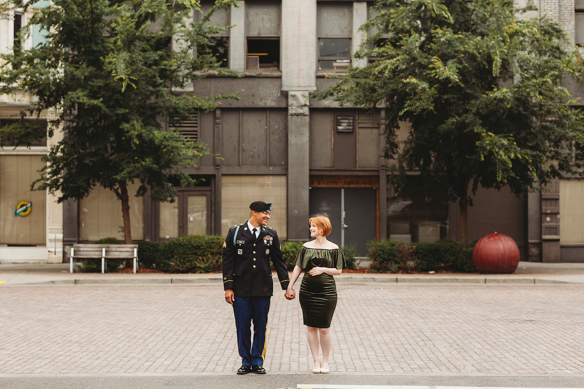 Military couple in Tacoma