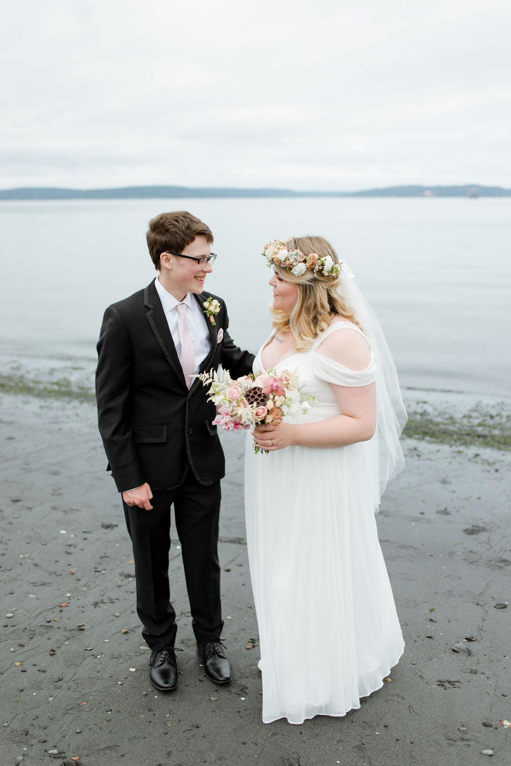 Wedding photos at Ruston Way