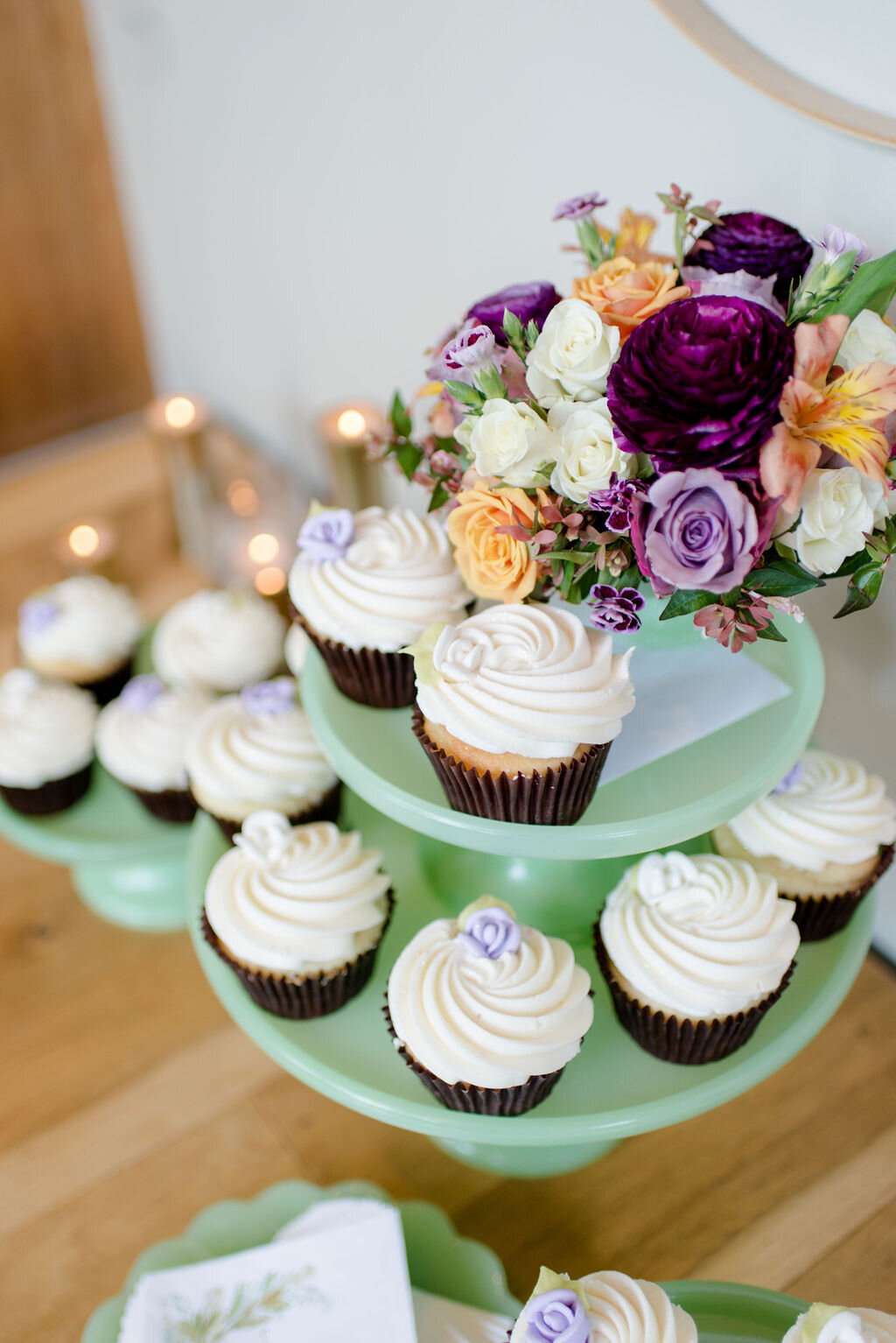 Beautiful Gluten Free Cupcakes from Corina Bakery. Image by Melanie Faun Photography