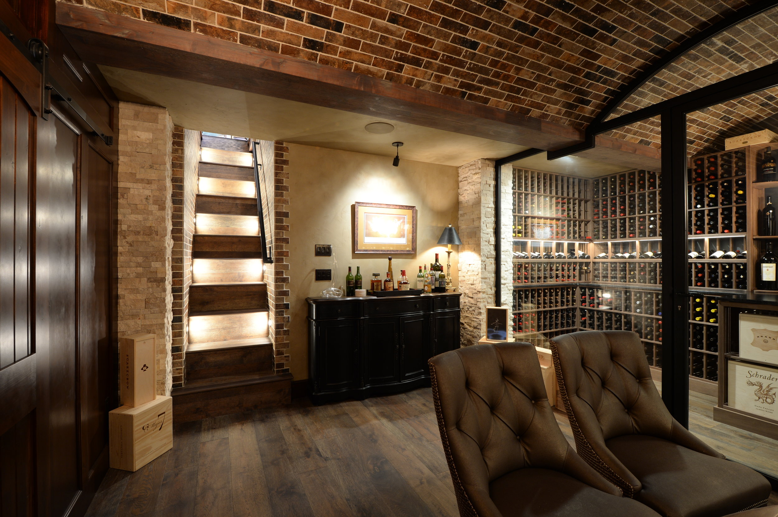 Wine Cellar Inspired Basement Grand Homes Renovations