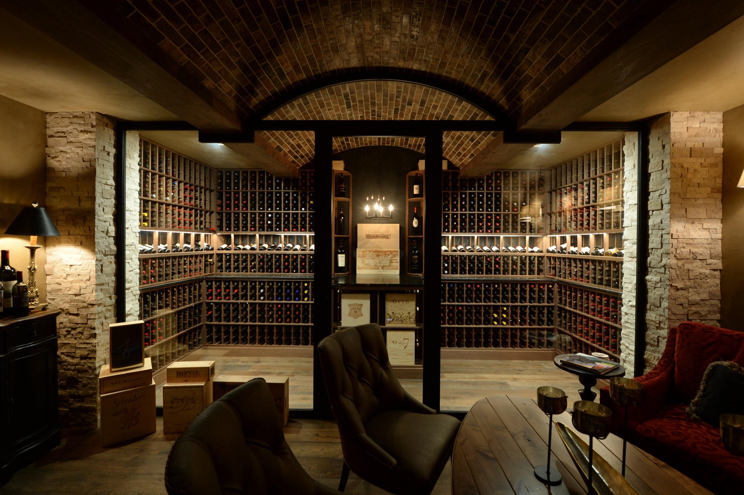 Wine Cellar Inspired Basement Grand Homes Renovations