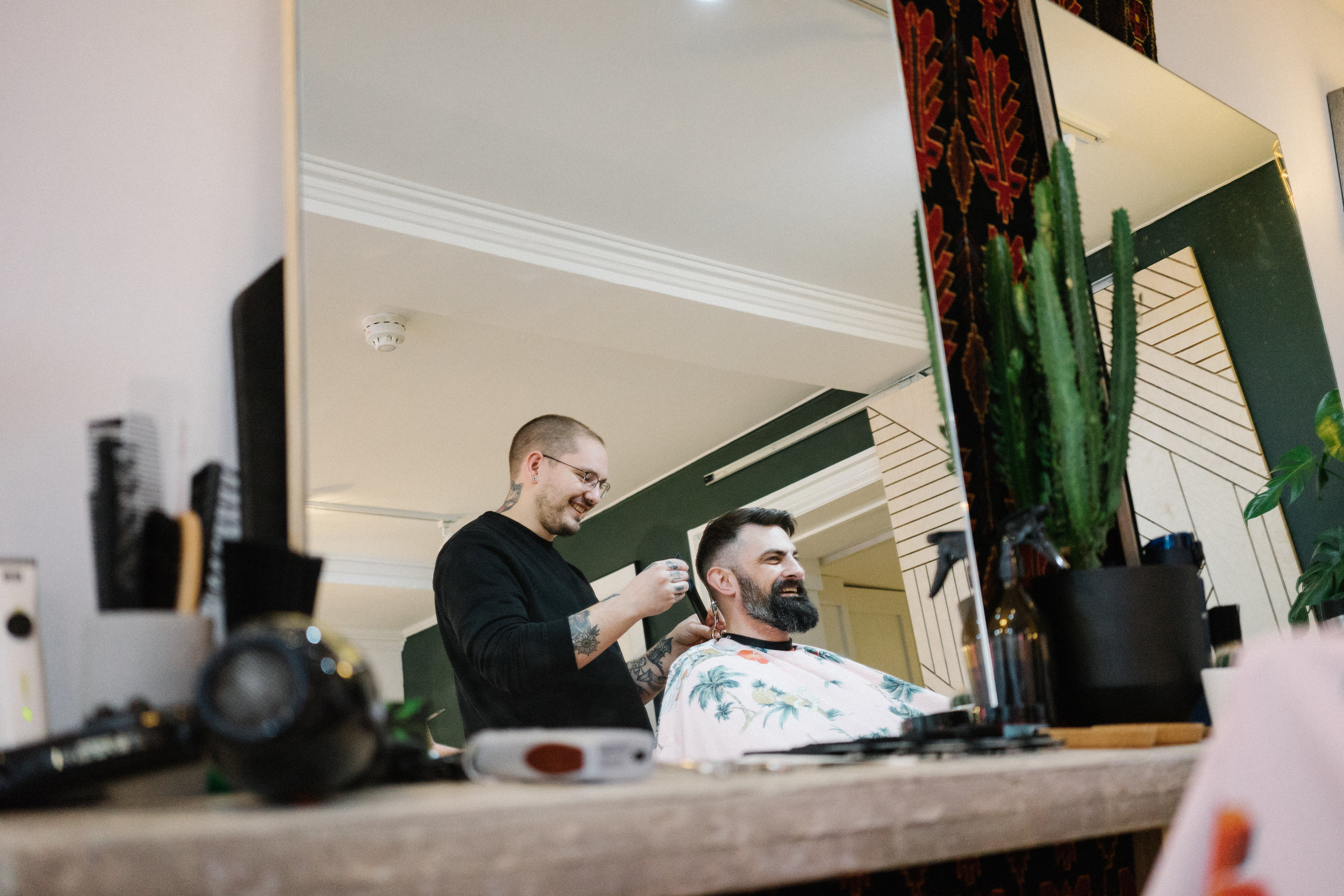 Couarge Noble Barbershop. St Giles Norwich. Cutting hair.jpg