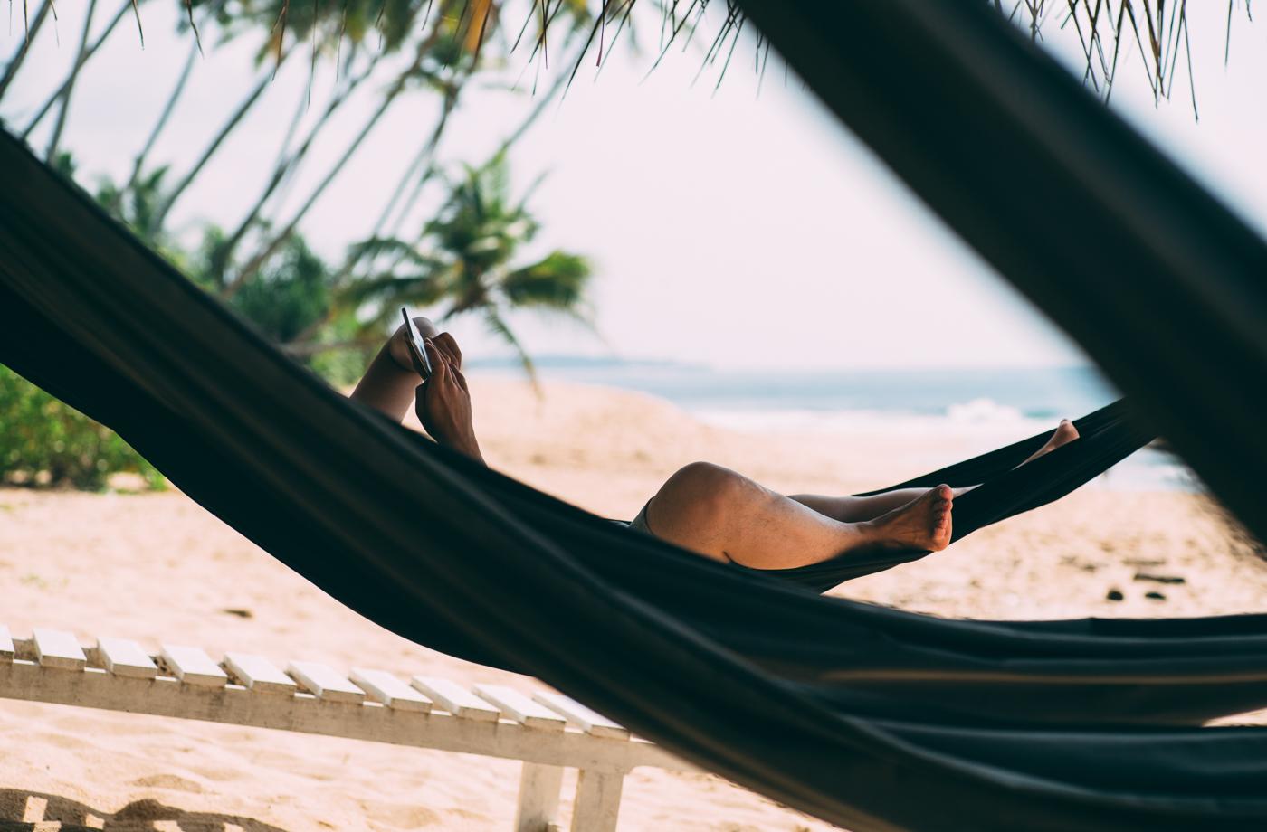 Chilling beachside