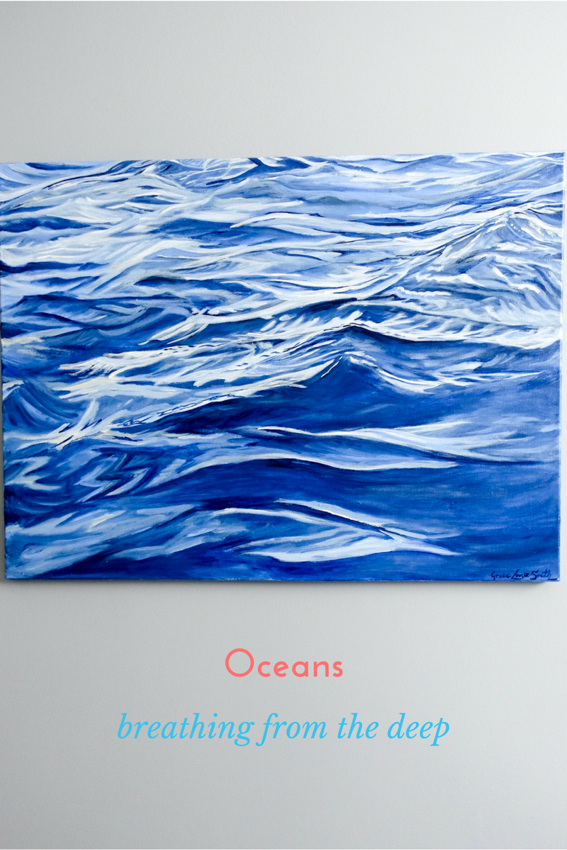 """'Oceans' - """"With every drop of water you drink, every breath you take, you're connected to the sea' - Sylvia Earle.Click here for more SAVE 20%!! Code: SHOEBOX20"""