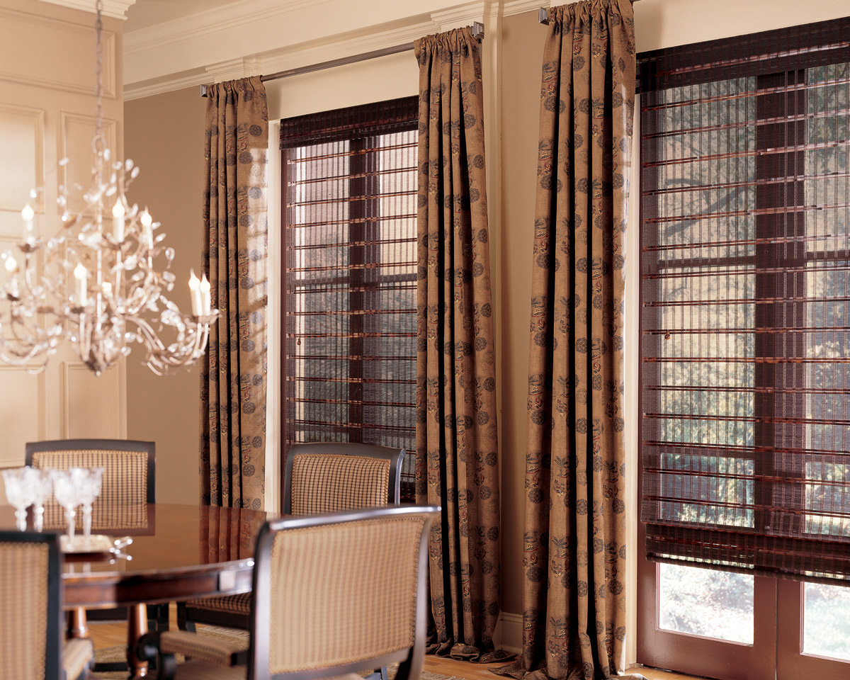 Woven Roman Shades in Scottsdale, Phoenix, Gilbert, Arizona