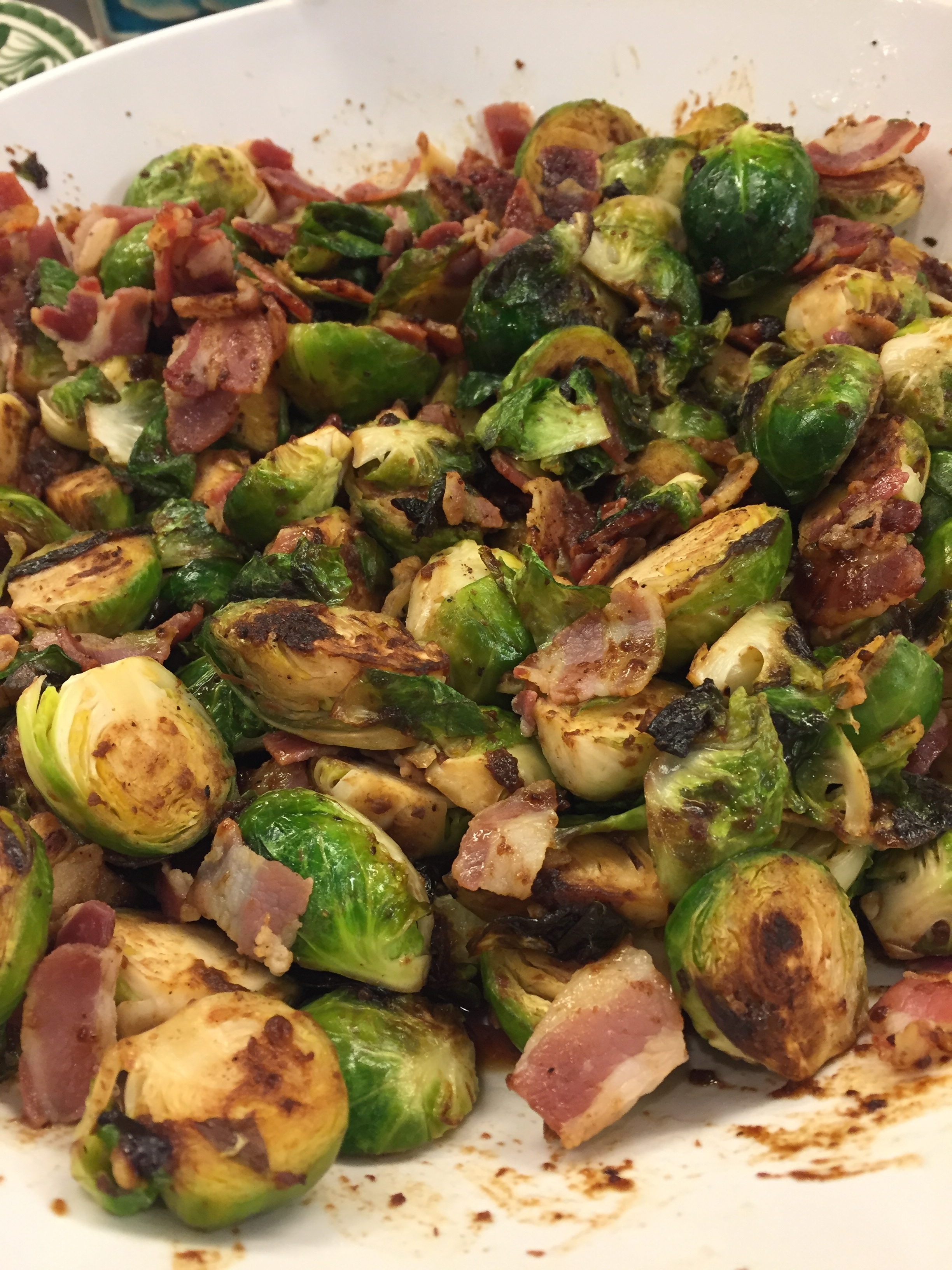 Brussels Sprouts with Pancetta and Fig Glaze