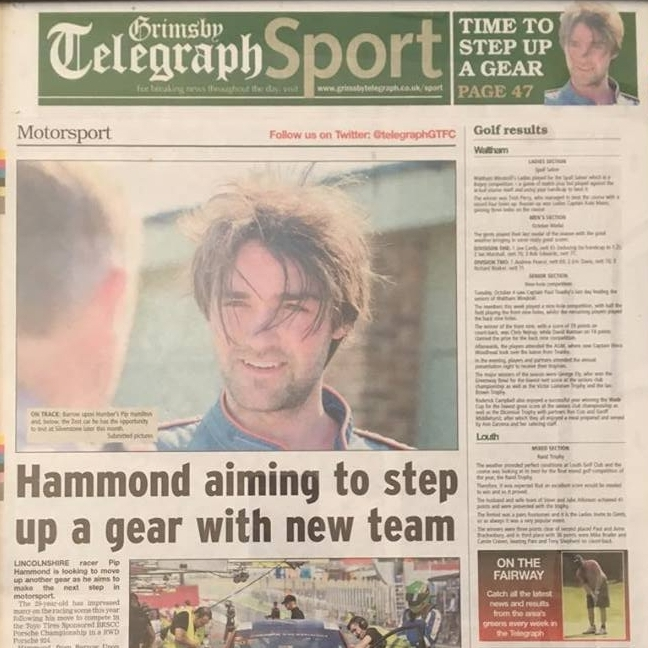 October 10, 2016 -  Pip Hammond article about test day.