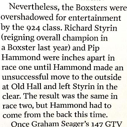 March 30, 2017 -  Autosport magazine about Pip Hammonds battle