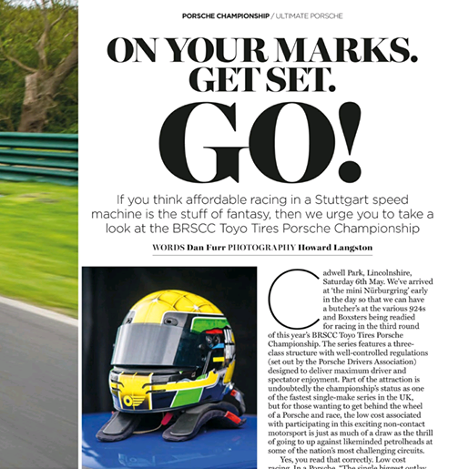 May 26, 2017 -   Ultimate Porsche Magazine  Article on the team at Cadwell Park.