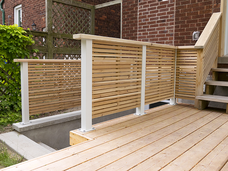 Metal railing posts