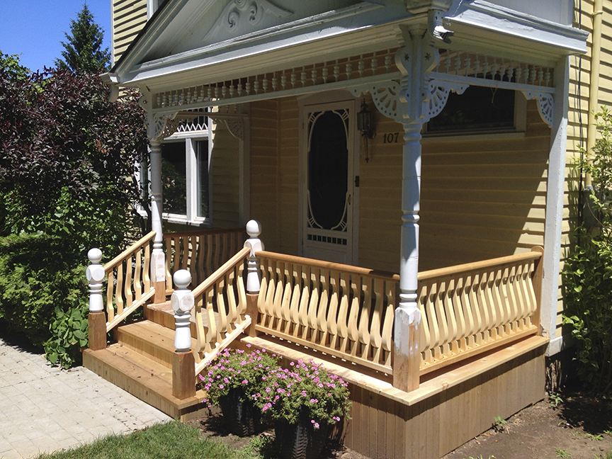 Victorian porch restoration