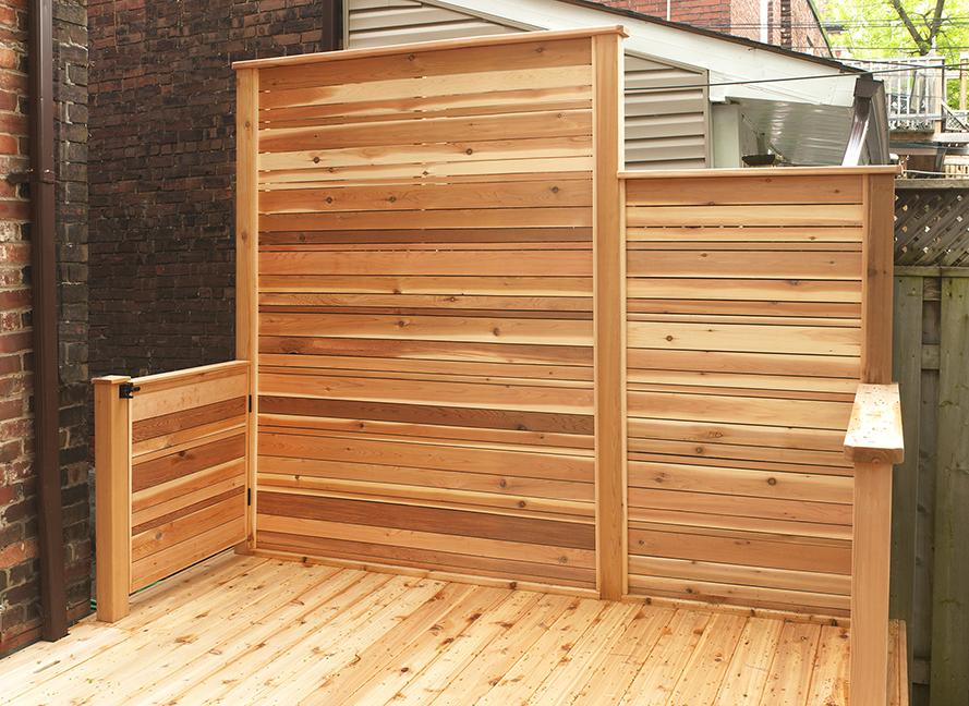 Cedar privacy screen