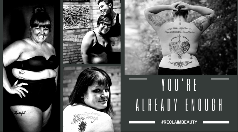 """A photo display of some #ReclaimBeauty project """"warriors."""""""