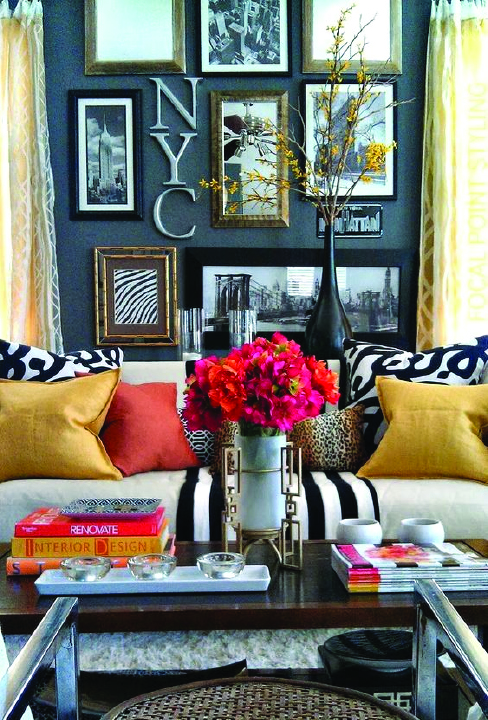 gathering spaces:   Mixed Patterns Are Trending from the Runways right into your home.