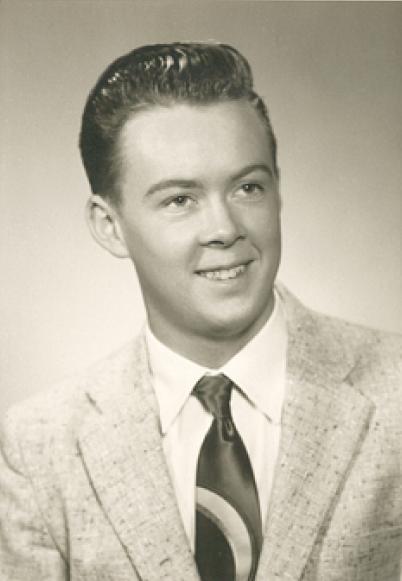 Terry's graduation photo from Randolph High School, 1957.