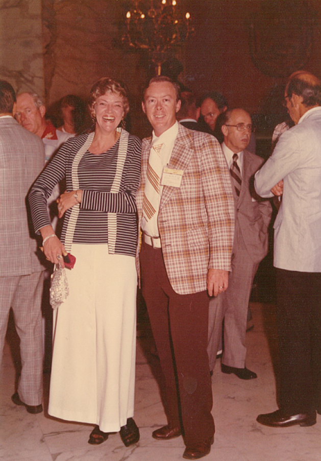 Terry and his wife, Valerie, at an event.