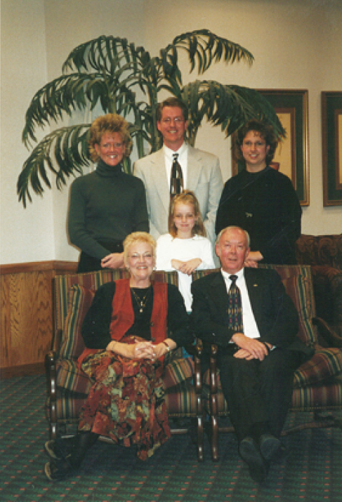 Terry and Valerie with their children after Terry received the Fuller Award in 2000.