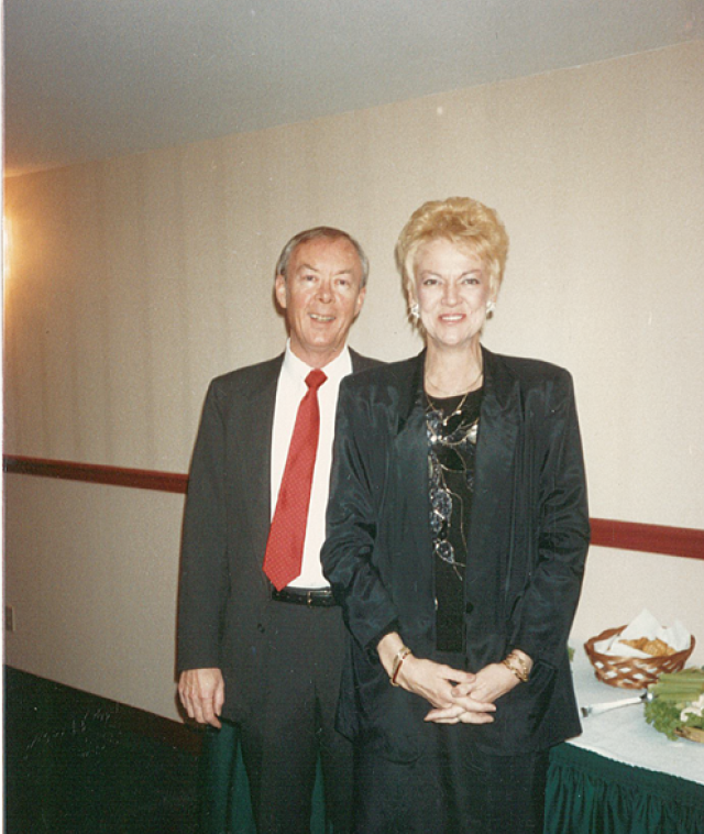 Terry and Valerie at a JEO Christmas party.