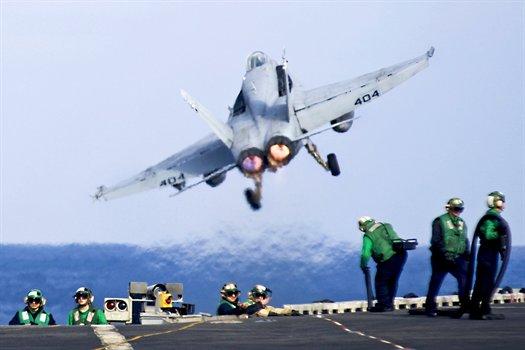 FA-18C Hornet from USS Carl Vinson in the Pacific Ocean, Jan. 8, 2011.jpg