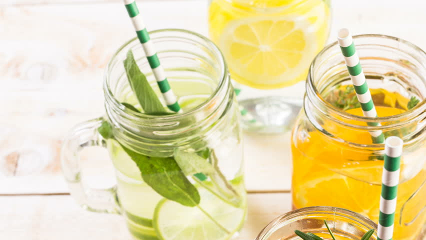 Citrus infused water.