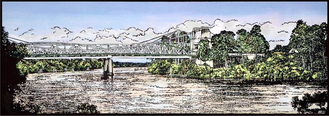 4 bridges at Indooroopilly , by Wayne Singleton