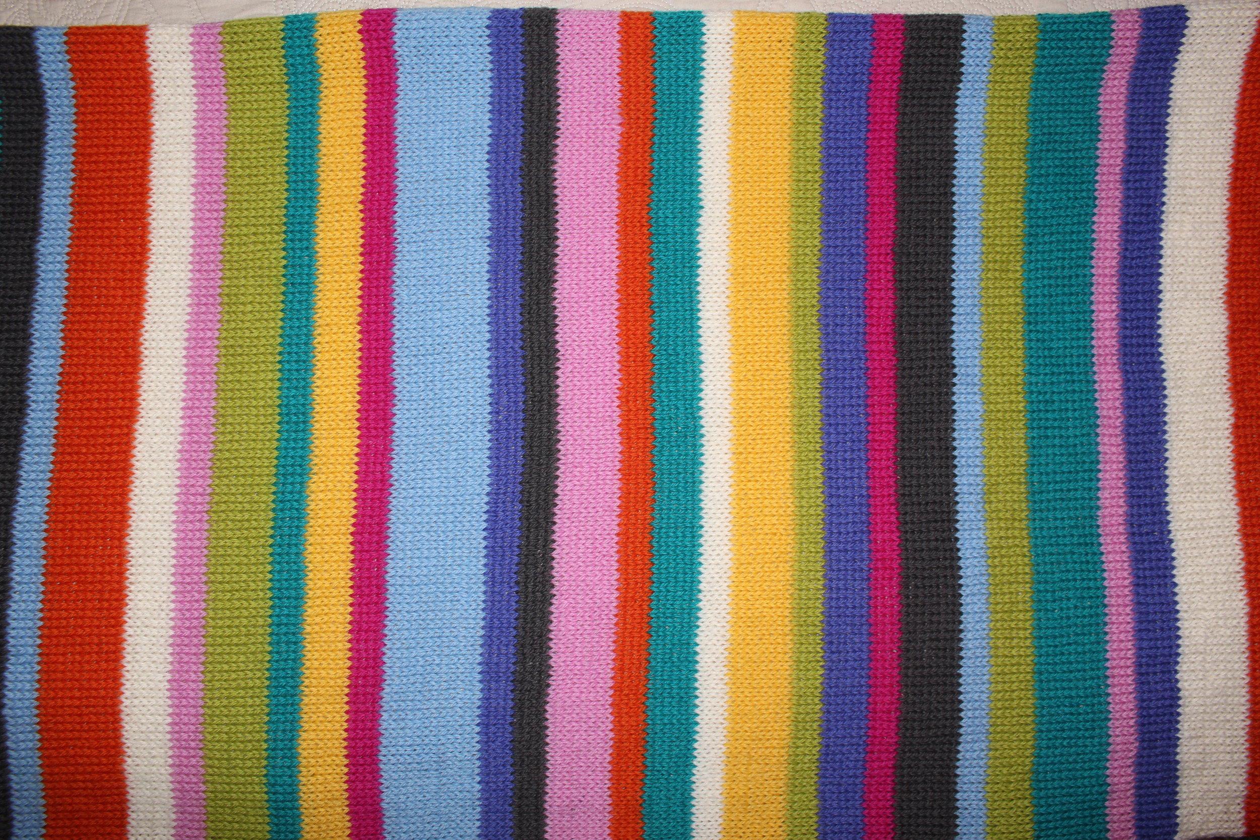 Start knitting in random stripes ...