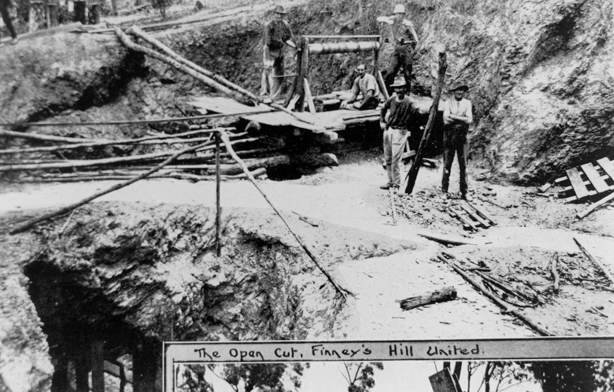 Photo courtesy of the SLQ: Finney's Hill United Silver Mine at Indooroopilly, Brisbane, 1921 Negative no.152987.