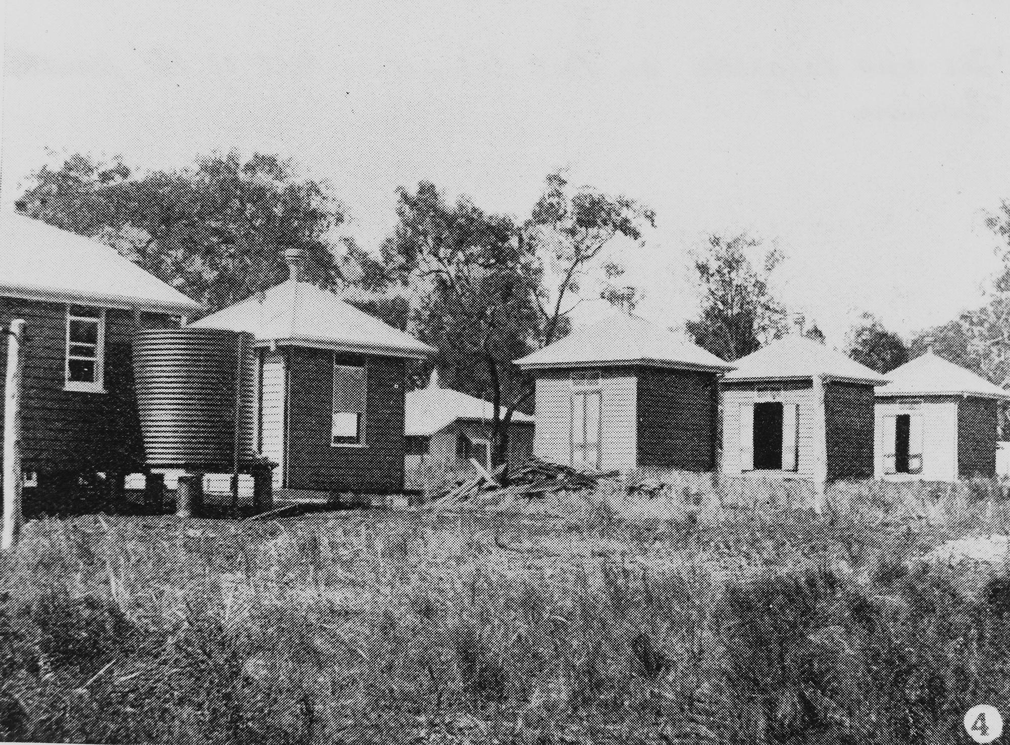 Peel Island lazarette huts, 1907