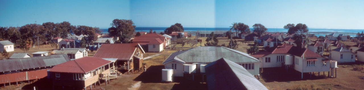 Peel Island lazaret - c.1955,building panorama (courtesy Dr Morgan Gabriel).