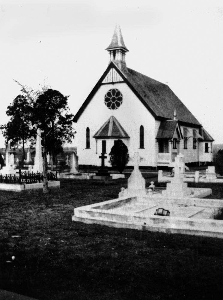 The second St Matthew's before it was destroyed by fire in 1921
