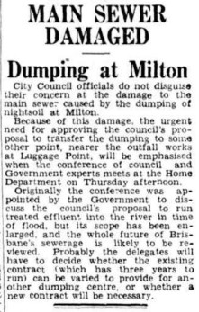 Concerns about the state of the main sewer were raised 12 months before it collapsed in April 1940. ( Trove )