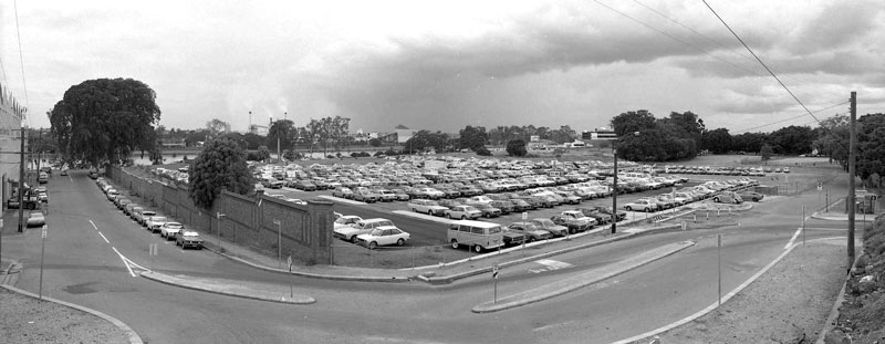 The park-and-ride site in 1982. (BCC-B120-2696)