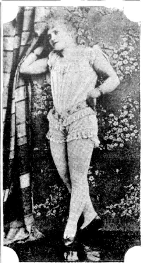 This image is thought to be of Gloria Van Tassel,  Australian Town and Country Journal, 14 May, 1892.