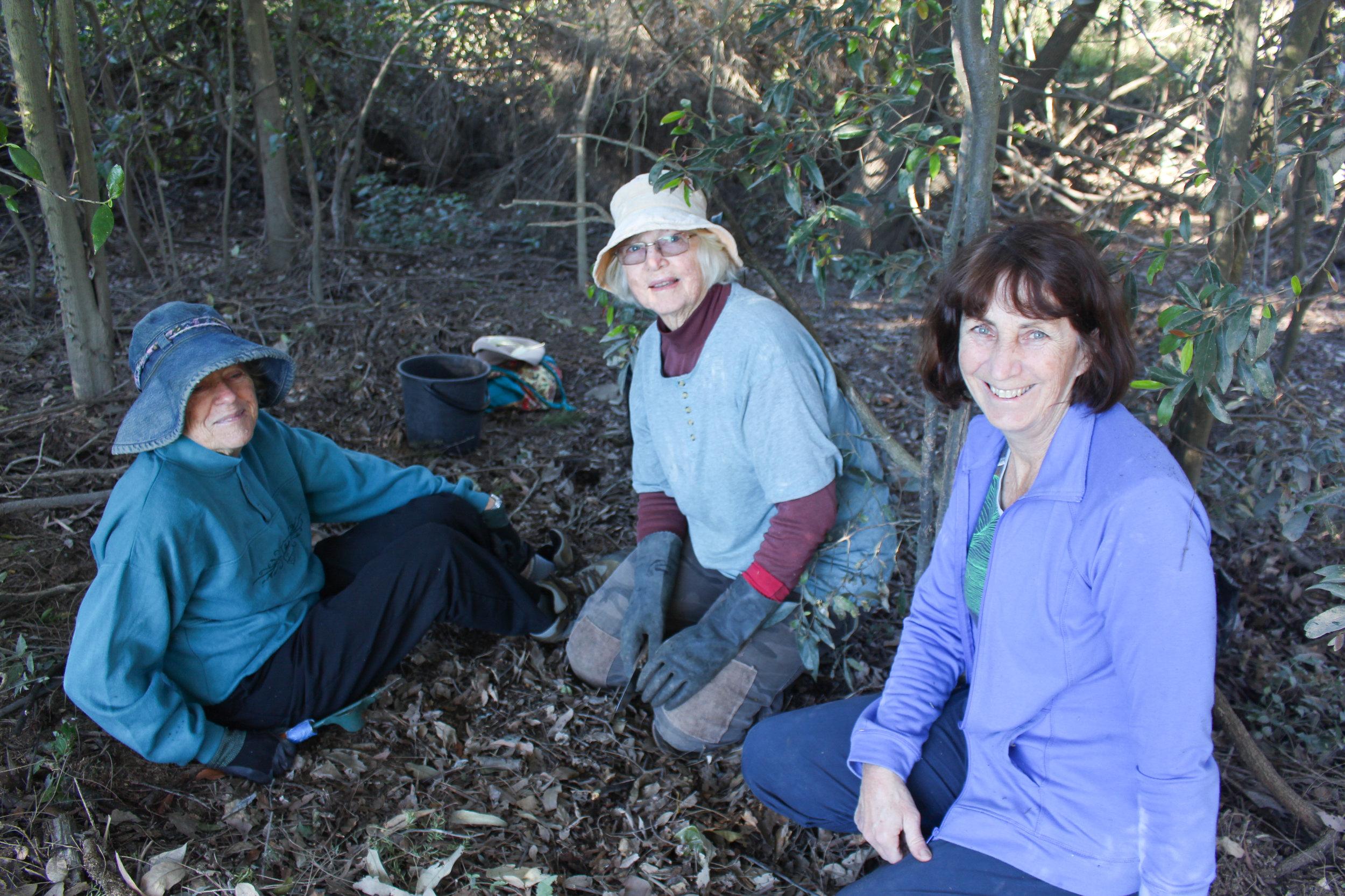 L to R: Volunteers, Gloria Wiskar, Carole Bristow and Debbie Maclean