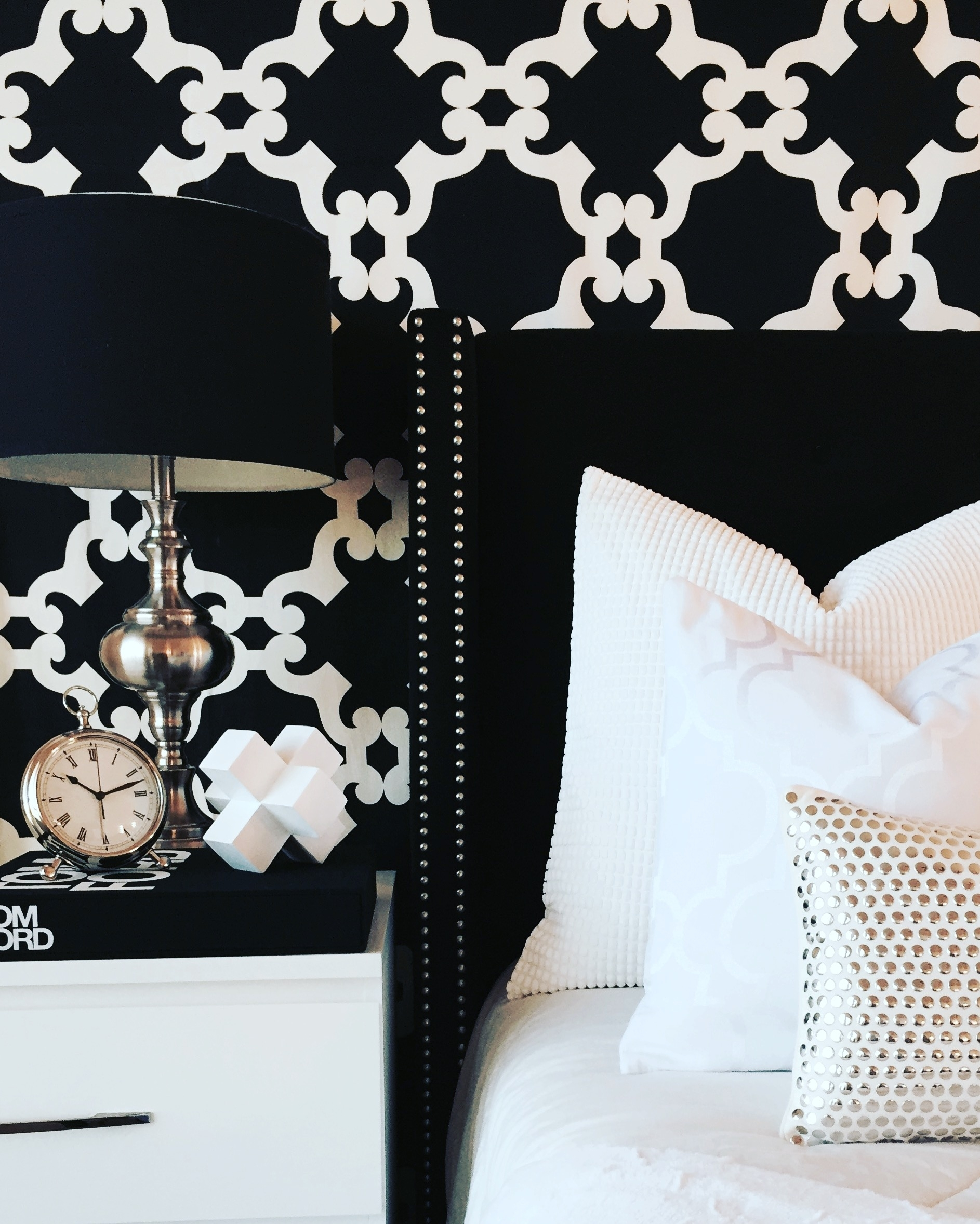 Interior Design - Classic Black and White tones make any decor chic and sophisticated.
