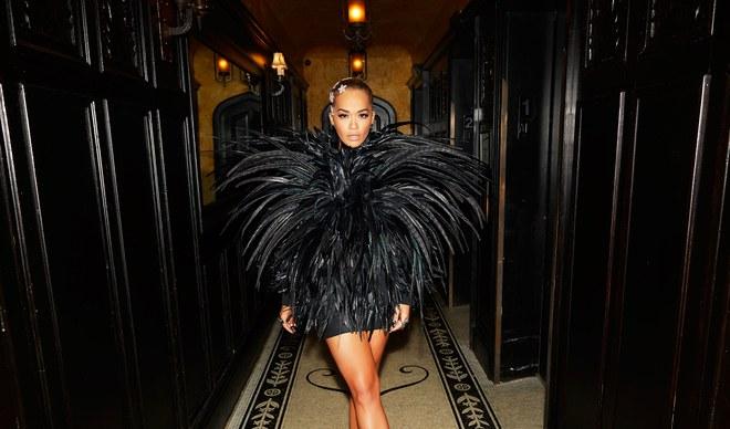 Rita Ora at the MTV VMAs 2018 - Feather Mini Dress by Alexandre Vauthier