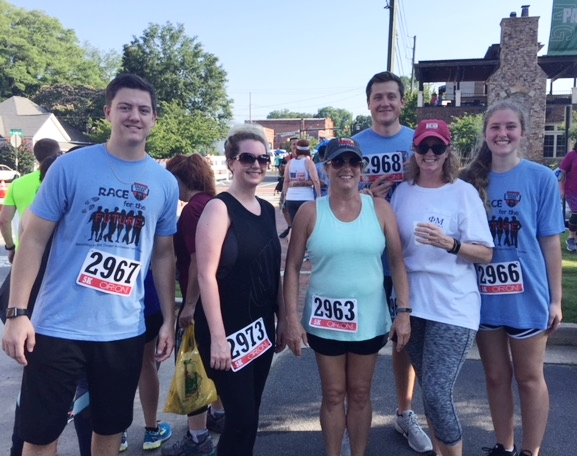 Members of the Elder Law staff participated in the teen center run on Father's Day.
