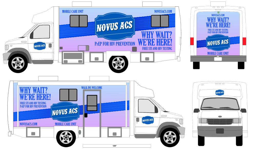 Making communities Stronger - NovusACS is excited to announce the launch of our New Mobile Care Unit, providing PrEP: HIV Prevention & Free STI & HIV testing to communities throughout Pennsylvania.Interested in having our mobile unit at your event. Please contact our Marketing Department.